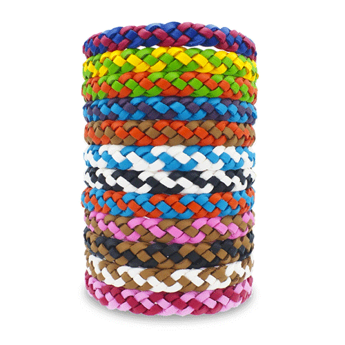 ByeBugs Faux Leather Bracelets